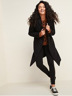 Oversized Soft-Brushed Overcoat for Women