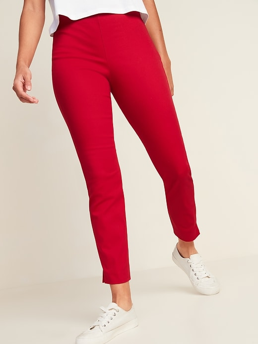 Oldnavy High-Waisted Twill Super Skinny Ankle Pants for Women