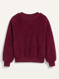Loose Cozy Sherpa Sweatshirt for Women