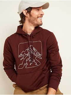 Mountains Graphic Pullover Hoodie for Men