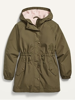 Water-Resistant Hooded Parka for Girls