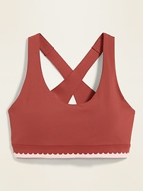 Medium Support Powersoft Scalloped-Edge Sports Bra for Women