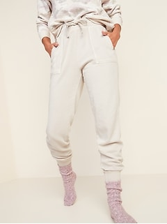 High-Waisted Garment-Dyed Jogger Pants for Women