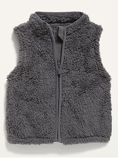 Unisex Sherpa Zip Vest for Baby