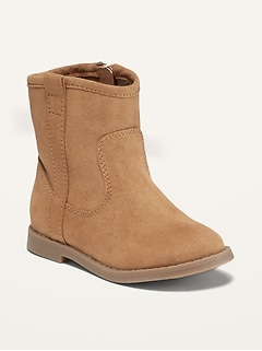 Faux-Suede Western Boots for Toddler Girls
