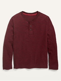 Long-Sleeve Striped Henley for Boys