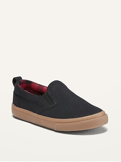 Canvas Slip-Ons for Toddler Boys