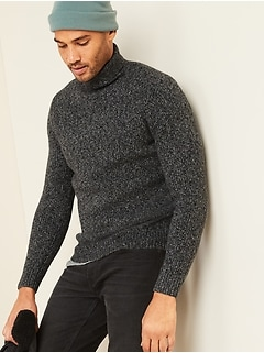 Textured Roll-Neck Sweater for Men