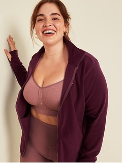Go-Warm Micro Performance Fleece Plus-Size Zip Jacket