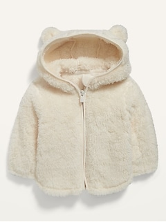Unisex Sherpa Critter Zip Hoodie for Baby