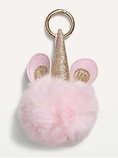 Design Group Americas™ Faux-Fur Pom-Pom Keychain