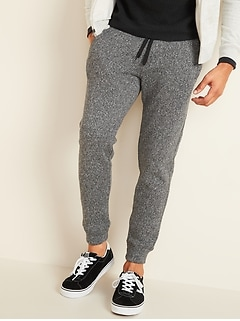 Herringbone Sweater-Fleece Jogger Sweatpants for Men