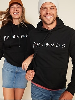 Friends™ Graphic Gender-Neutral Pullover Hoodie for Men & Women