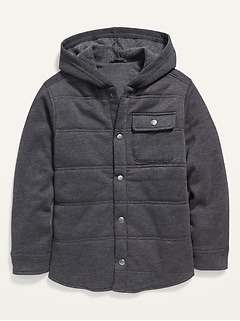 Quilted Fleece Shirt Jacket for Boys