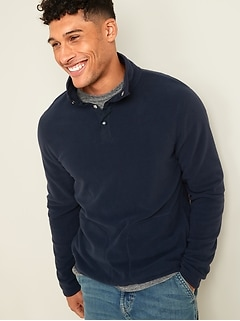 Micro Performance Fleece 1/4-Snap Mock-Neck Sweatshirt for Men