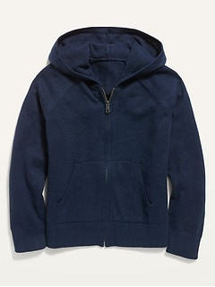 Uniform Zip-Front Sweater Hoodie for Girls