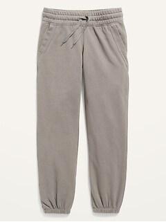 Vintage Cinched-Hem Sweatpants for Girls