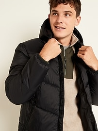 Go-H20 Water-Resistant Hooded Puffer Jacket for Men