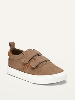 Faux-Suede Double-Strap Sneakers for Toddler Boys