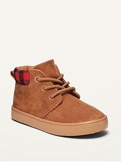 Faux-Suede Mid-Top Chukka Boots for Toddler Boys