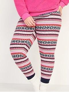 Thermal-Knit Plus-Size Pajama Leggings