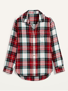 Classic Plaid Flannel Shirt for Women