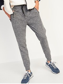 Sweater-Fleece Zip-Pocket Jogger Sweatpants for Men