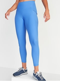 High-Waisted Elevate Powersoft Side-Pocket 7/8-Length Run Leggings for Women