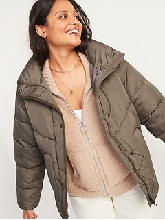 Quilted Utility Puffer Jacket for Women