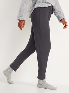 Cozy Thermal-Knit Drop-Crotch Lounge Pants for Women