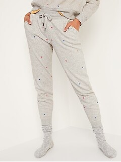 Mid-Rise French Terry Tapered Jogger Sweatpants for Women