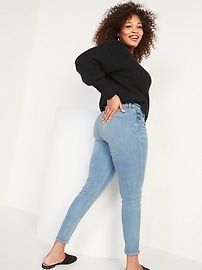 High-Waisted Rockstar Built-In Warm Super Skinny Jeans for Women