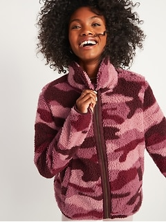 Cozy Sherpa Zip-Front Jacket for Women