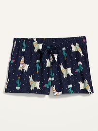 Patterned Flannel Boxer Pajama Shorts for Women -- 2.5-inch inseam