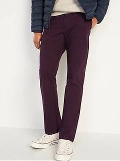 Straight Ultimate Built-In Flex Patterned Chino Pants for Men