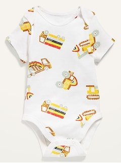 Printed Short-Sleeve Bodysuit for Baby