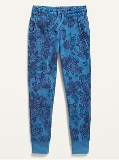 Printed Vintage Street Joggers for Girls