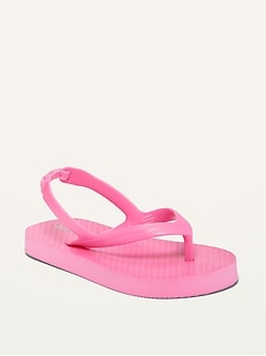 Unisex Solid Flip-Flops for Toddler
