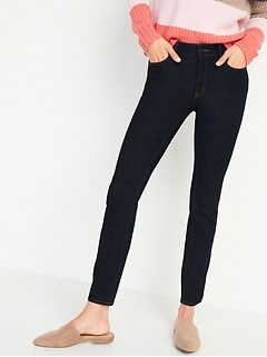 Mid-Rise Pop Icon Skinny Dark-Wash Jeans for Women