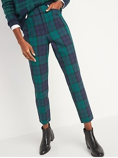 High-Waisted Pixie Full-Length Patterned Pants for Women