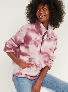 Cozy Sherpa Half-Zip Sweatshirt for Women