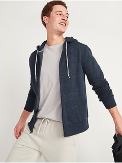 Soft-Washed Zip-Front Hoodie for Men