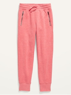Mid-Rise French Terry Zip-Pocket Street Jogger Sweatpants for Girls