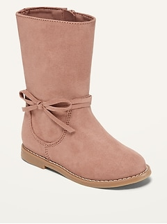 Faux-Suede Tall Boots for Toddler Girls