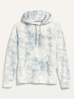 Vintage Gender-Neutral Tie-Dyed Pullover Hoodie for Adults