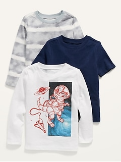Unisex Crew-Neck Tee Variety 3-Pack for Toddler