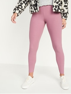 High-Waisted Rib-Knit Leggings for Women