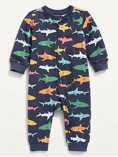 Printed French Terry One-Piece for Baby