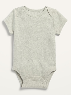 Solid Short-Sleeve Bodysuit for Baby