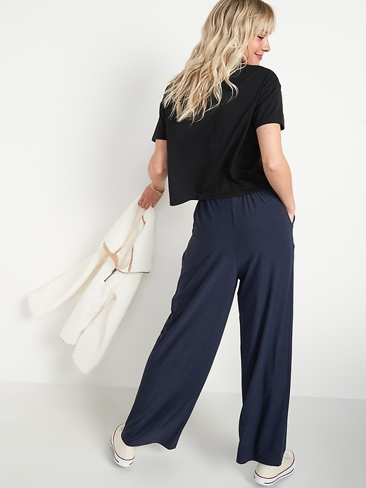 High-Waisted Breathe ON Crop Wide-Leg Pants for Women